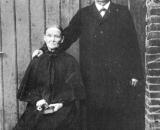Der Erbauer der Mühle: August Eggersmann mit seiner Frau Anna in Sonntagstracht